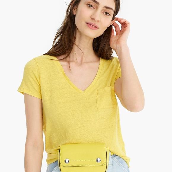 J. Crew Tops - Neon Yellow  J.Crew Small Tee Shirt
